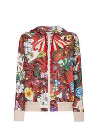 Sweat à capuche imprimé multicolore Gucci