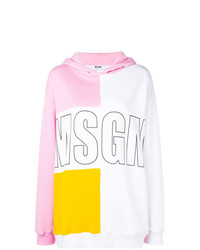 Sweat à capuche imprimé multicolore MSGM