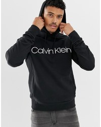 Sweat à capuche imprimé noir et blanc Calvin Klein