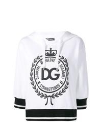 Sweat à capuche imprimé noir et blanc Dolce & Gabbana