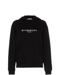 Sweat à capuche imprimé noir et blanc Givenchy