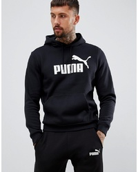 Sweat à capuche imprimé noir et blanc Puma
