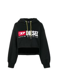 Sweat à capuche imprimé noir Diesel