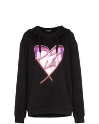 Sweat à capuche imprimé noir Dolce & Gabbana