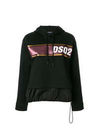Sweat à capuche imprimé noir Dsquared2