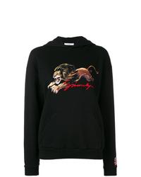 Sweat à capuche imprimé noir Givenchy