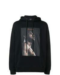 Sweat à capuche imprimé noir Marcelo Burlon County of Milan