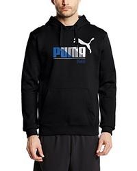 Sweat à capuche imprimé noir Puma