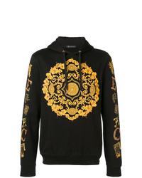 Sweat à capuche imprimé noir Versace