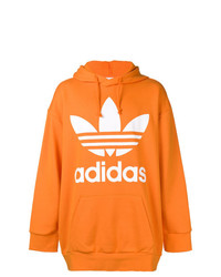 Sweat à capuche imprimé orange adidas