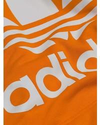 Sweat à capuche imprimé orange adidas