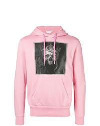Sweat à capuche imprimé rose Alexander McQueen