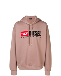 Sweat à capuche imprimé rose Diesel