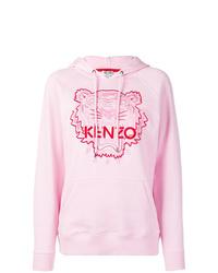Sweat à capuche imprimé rose Kenzo