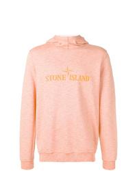 Sweat à capuche imprimé rose Stone Island