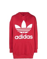 Sweat à capuche imprimé rouge adidas