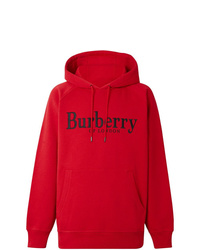 Sweat à capuche imprimé rouge Burberry