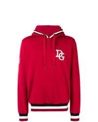 Sweat à capuche imprimé rouge Dolce & Gabbana