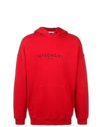 Sweat à capuche imprimé rouge Givenchy