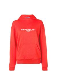 Sweat à capuche imprimé rouge Givenchy