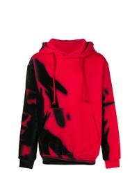 Sweat à capuche imprimé rouge Maison Margiela