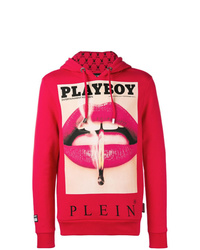 Sweat à capuche imprimé rouge Philipp Plein