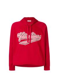 Sweat à capuche imprimé rouge Valentino