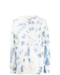 Sweat à capuche imprimé tie-dye blanc Stella McCartney