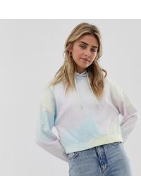 Sweat à capuche imprimé tie-dye multicolore