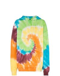 Sweat à capuche imprimé tie-dye multicolore R13
