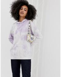 Sweat à capuche imprimé tie-dye violet clair ASOS DESIGN