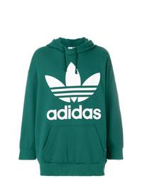 Sweat à capuche imprimé vert adidas
