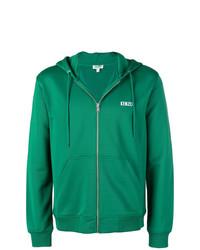 Sweat à capuche imprimé vert Kenzo