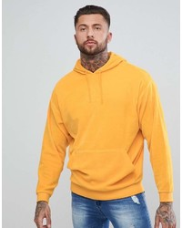 Sweat à capuche moutarde Asos