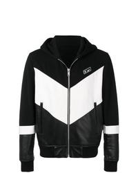 Sweat à capuche noir et blanc Givenchy