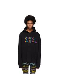Sweat à capuche noir Gucci