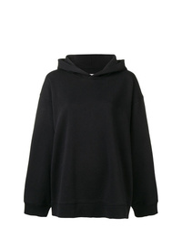 Sweat à capuche noir MM6 MAISON MARGIELA