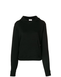 Sweat à capuche noir Saint Laurent