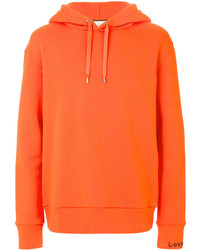 Sweat à capuche orange