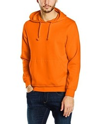 Sweat à capuche orange Clique