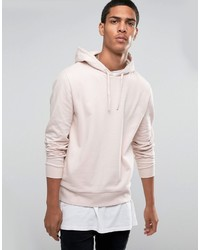 Sweat à capuche rose Asos