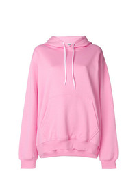 Sweat à capuche rose MSGM