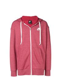 Sweat à capuche rouge Nike