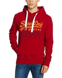 Sweat à capuche rouge Superdry
