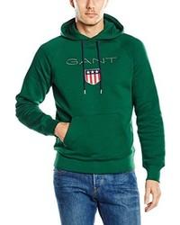 Sweat à capuche vert Gant