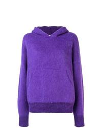 Sweat à capuche violet Laneus