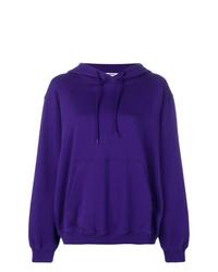 Sweat à capuche violet MSGM