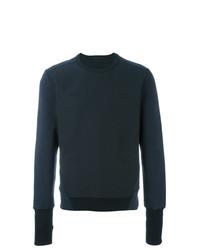 Sweat-shirt à chevrons bleu marine Alexander McQueen