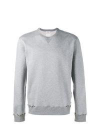 Sweat-shirt à clous gris Valentino