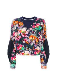 Sweat-shirt à fleurs bleu marine Isabel Marant
